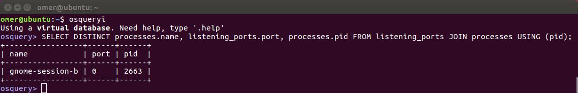 Process'in adını portunu ve PID sini listelemek