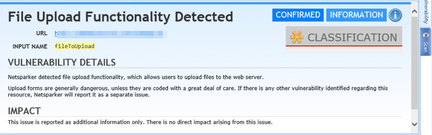 File Upload Detected