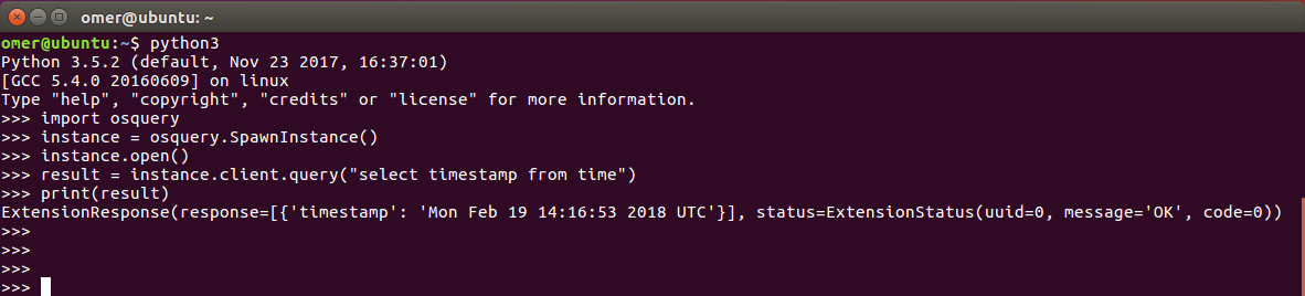 osquery Python Kullanımı